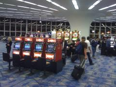 Play the slots while you wait at the Las Vegas airport for your flight.