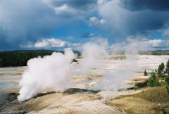 Porcelain Basin, in Norris Geyser Basin, on a Yellowstone tour.