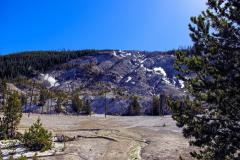 Roaring Mountain in Yellowstone, with the fumaroles steaming away!